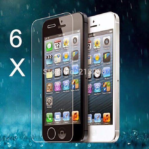 6X s mobile protective glass film tempered iPhone 5 fil